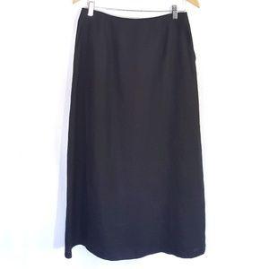 Linen Talbots Aline Maxi Modest Skirt Pockets Long